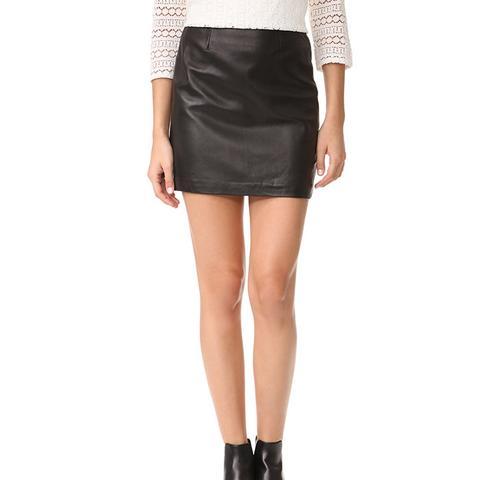 Alva Leather Skirt