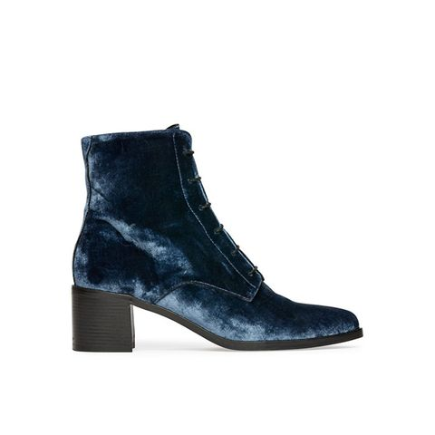 Ace Lace Up Mid Heel Boots