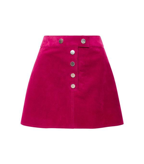 Courrèges Fushia Suede Mini Skirt