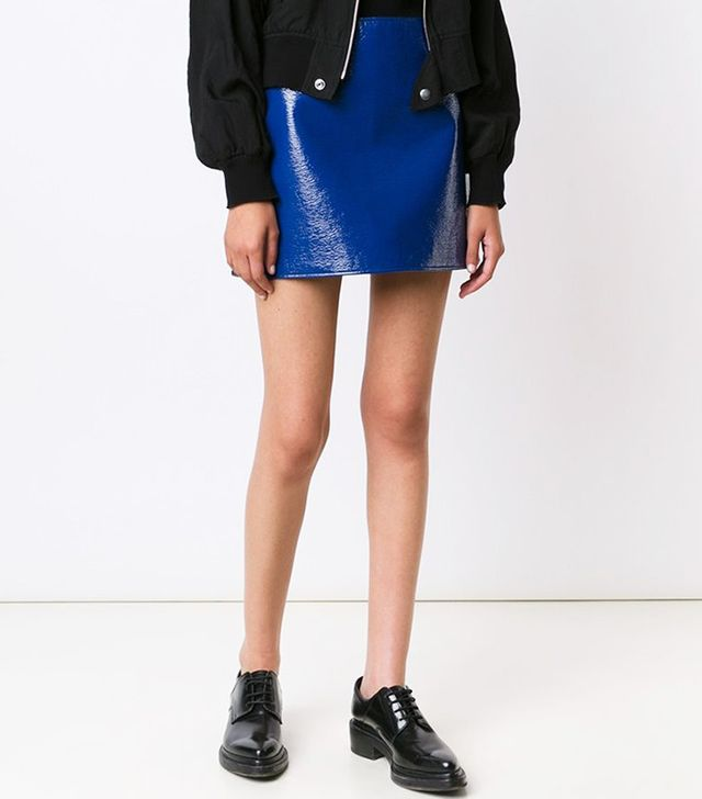 Courrèges Vinyl Effect Skirt