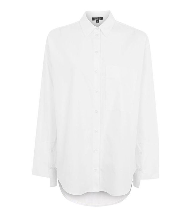 Topshop Deep Cuff Oversized Shirt
