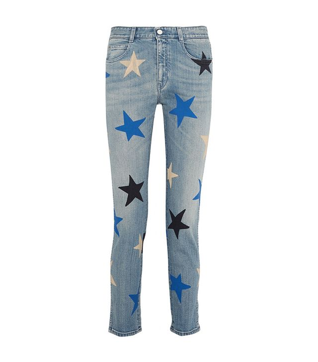 Stella McCartney Printed Mid-Rise Staight-Leg Jeans