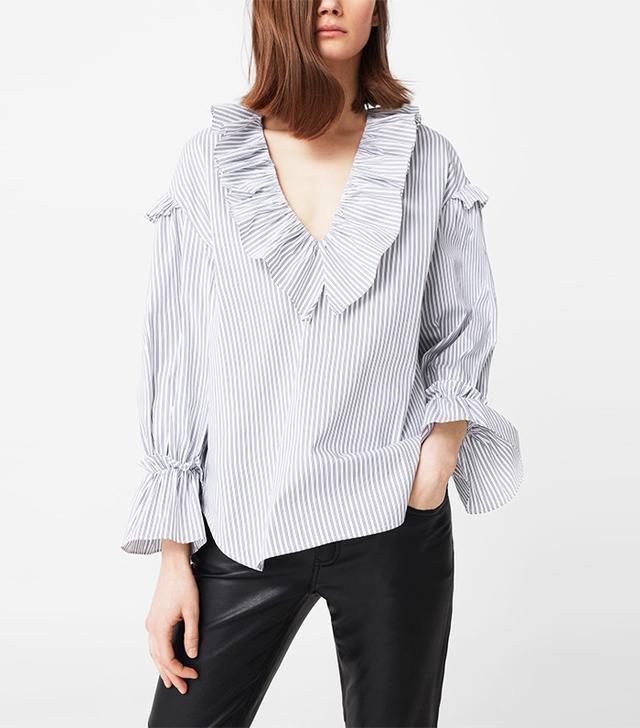 poplin ruffle shirt