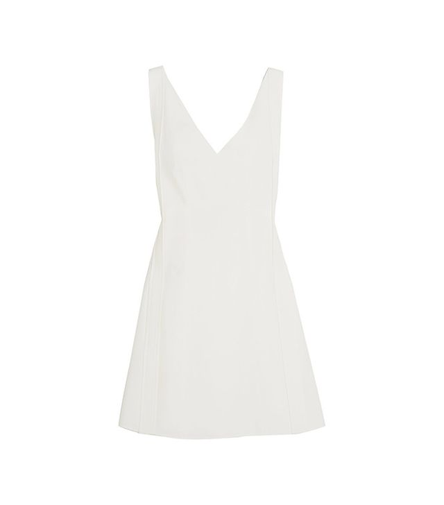 Chloe Tie-Back Crepe Mini Dress