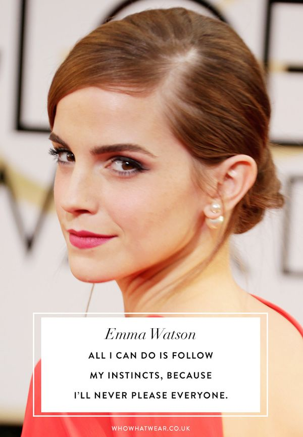Emma Watson quotes: all I can do is follow my instincts, because I'll never please everyone.