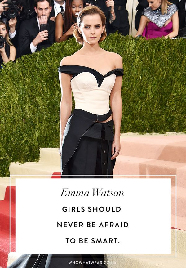 Emma watson quotes: Girls should never be afraid to be smart.