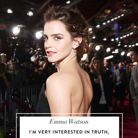 Emma Watson quotes: I'm very interested in truth, in finding ways to be messy and unsure and flawed and incredible and great and my fullest self, all wrapped into one.