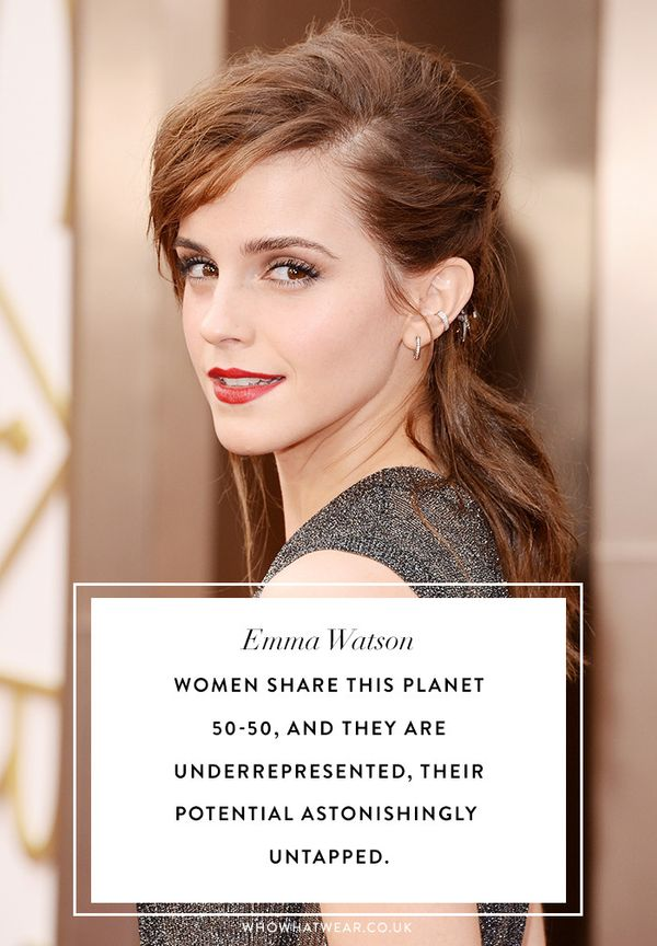 Emma watson quotes: women share this planet 50-50, and they are underrepresented, their potential astonishingly untapped.