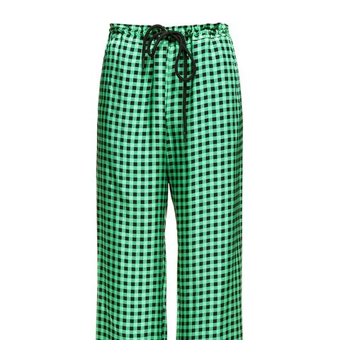 Green Vichy Trousers