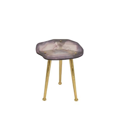Glass Agate Accent Table