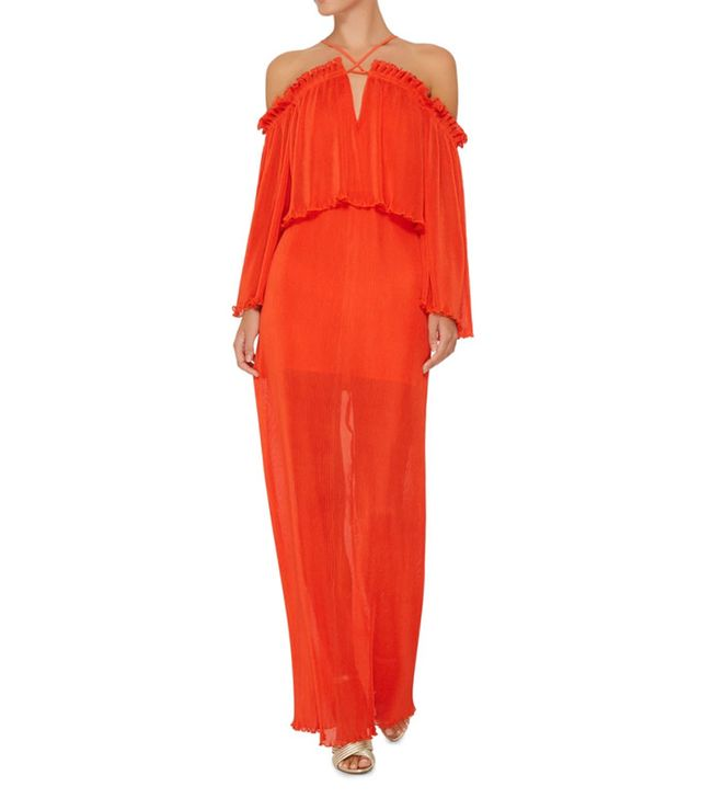 orange party dress
