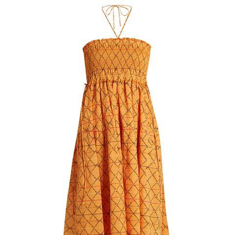 Nueva Nambe Smocked Cotton Dress