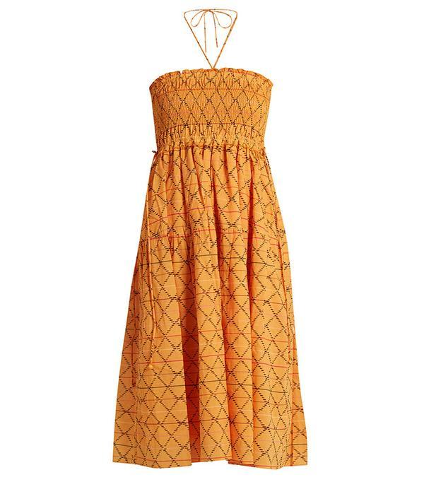 Apiece Apart Nueva Nambe Smocked Cotton Dress