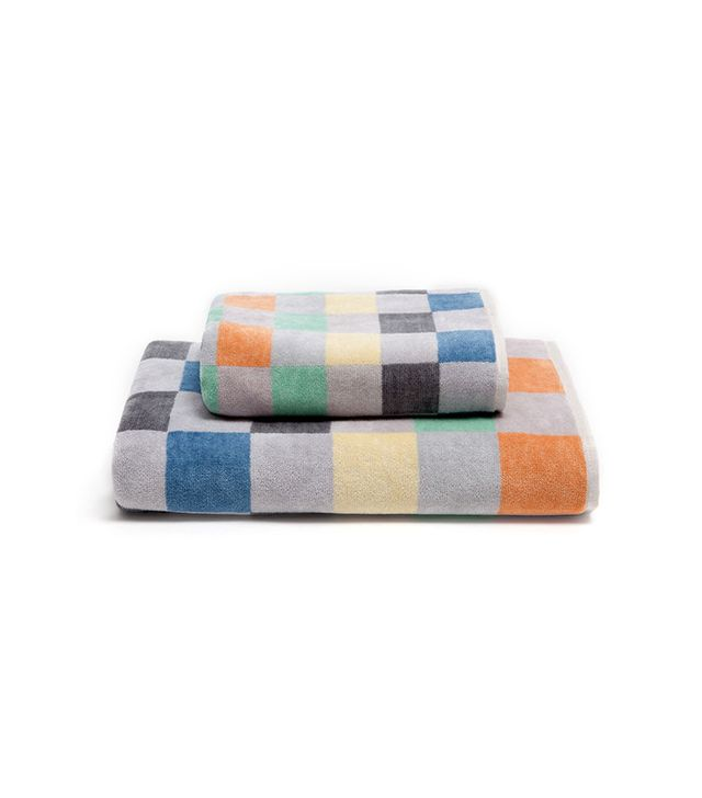Zara Home Multi-Colored Checks Cotton Towel