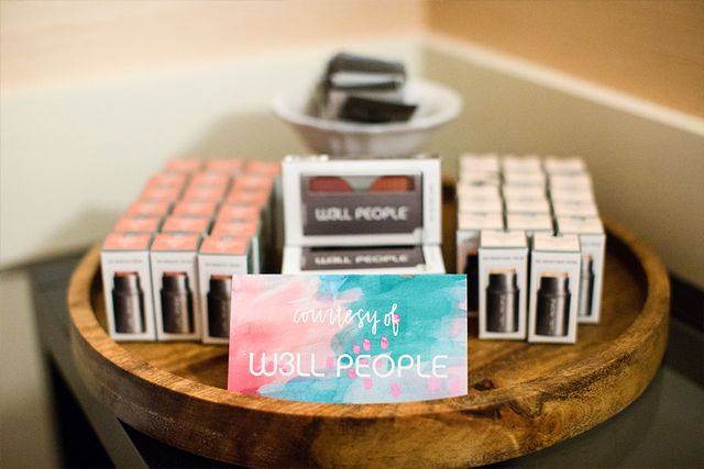 Guests were gifted with cosmetics from W3ll People.