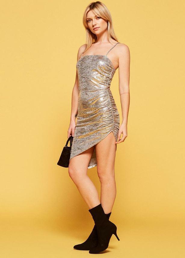 Jonathan Simkhai Asymmetric Ruffled Stretch-Knit Dress