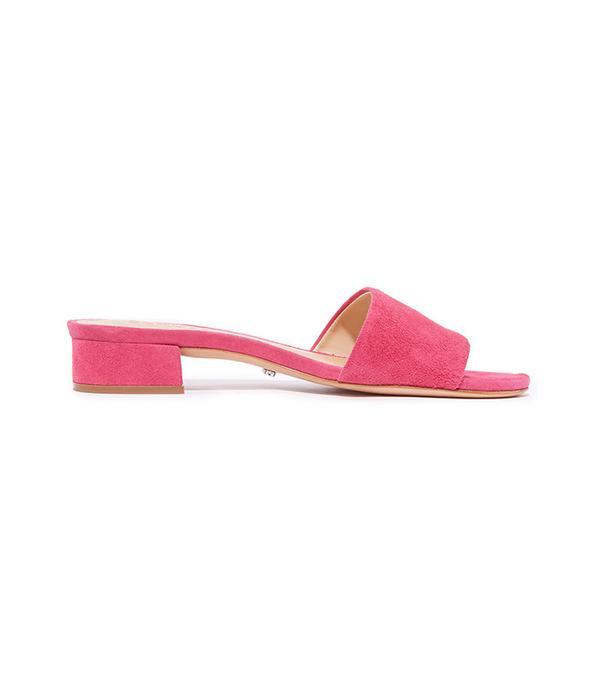 best pink suede slides