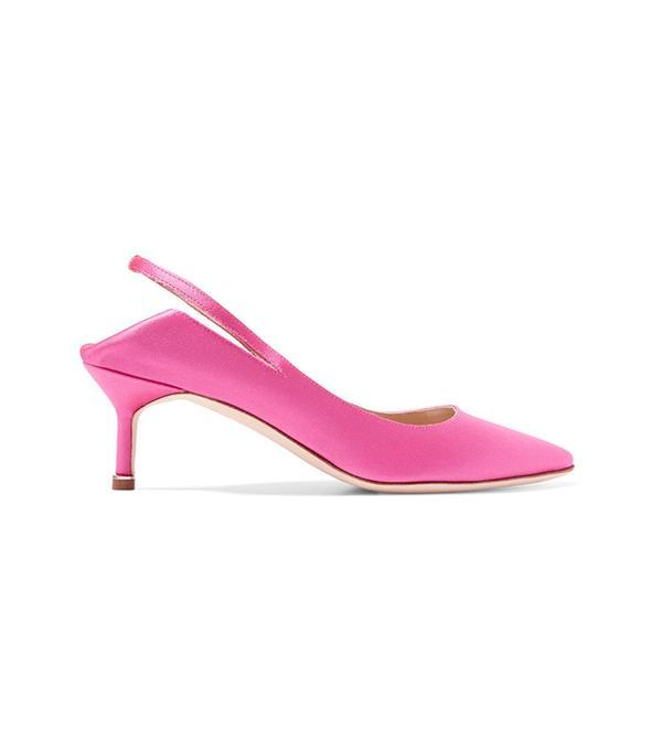 best pink slingback pumps