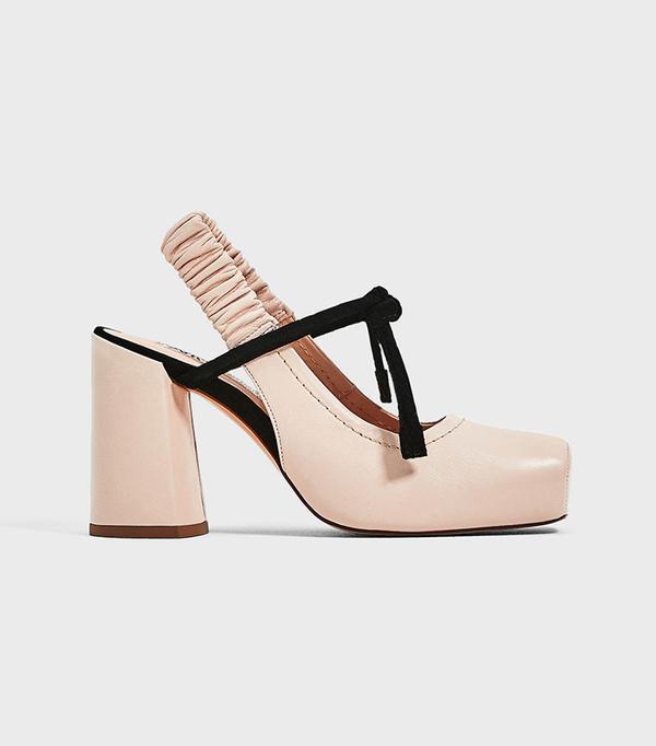 best pink block heels