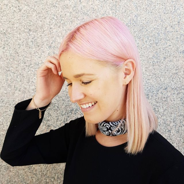 Watch This Blonde Editor Dye Her Hair Pink at Home