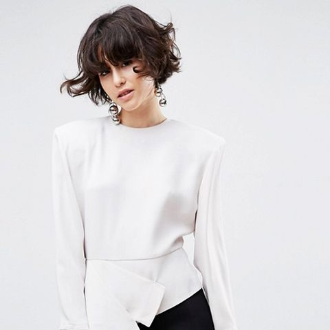 Asymmetric Top With Shoulder Pads