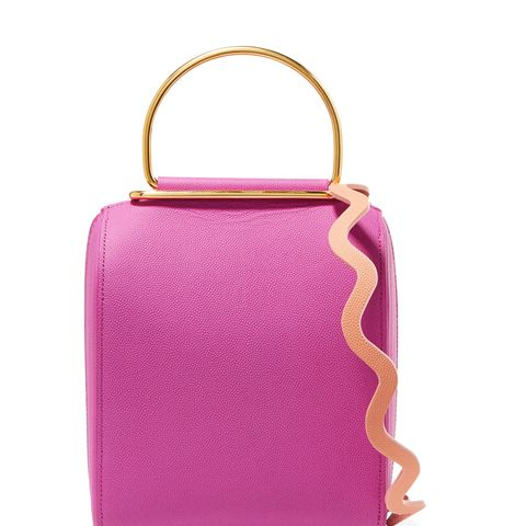 Besa Textured-Leather Shoulder Bag