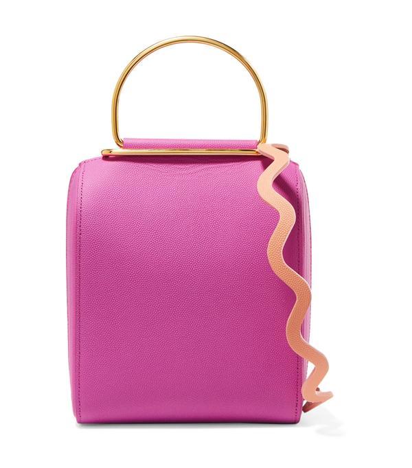 How to look chic: Roksanda Besa Textured-Leather Shoulder Bag