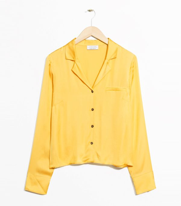 How to look chic: & Other Stories Buttoned Blouse