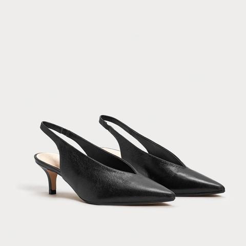 Slingback Leather Shoes