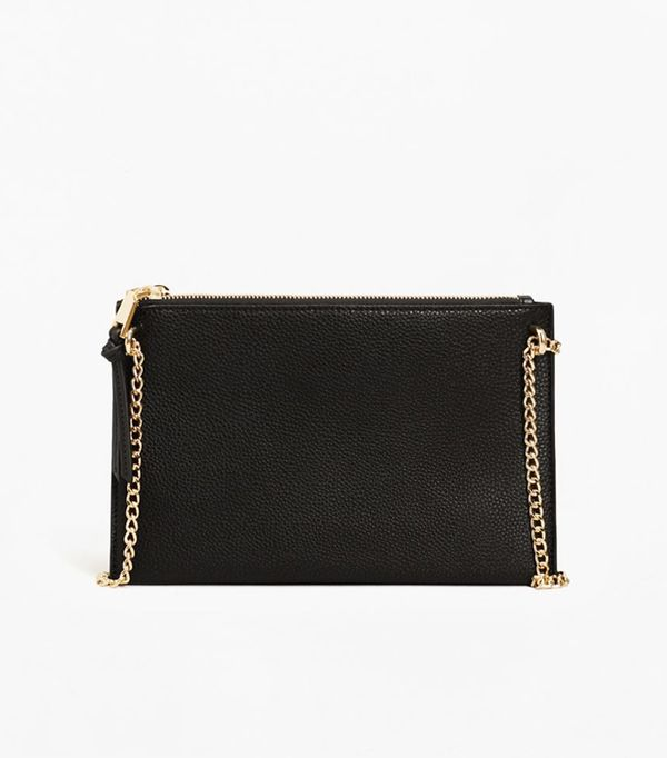 How to look chic: Mango Ring Leather Clutch