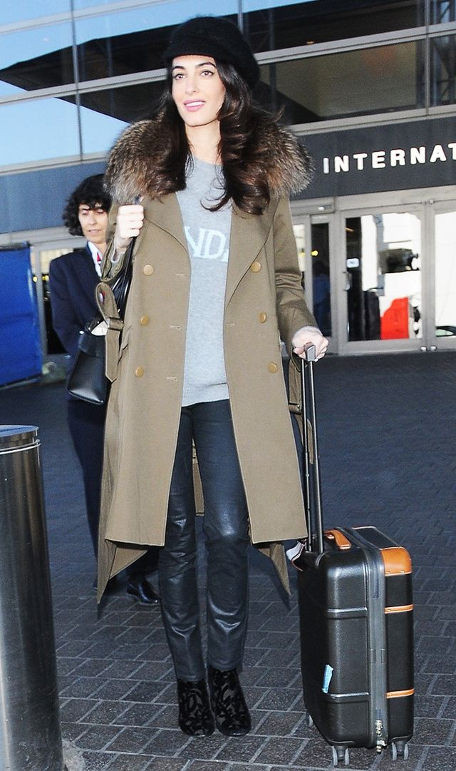 Amal Clooney at the airport