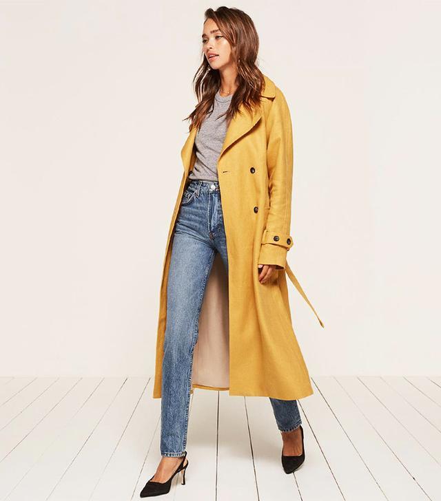 best yellow trench coat