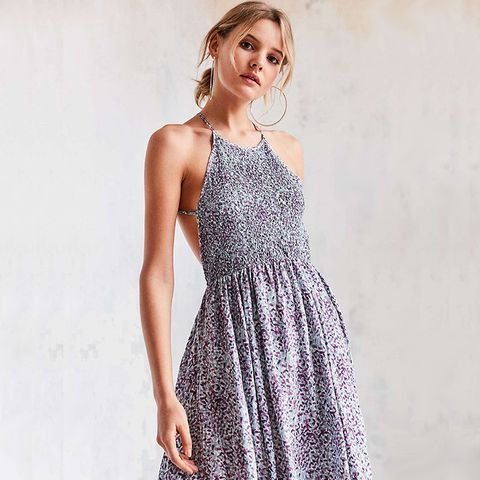 Verlina Smocked Bodice Mini Dress