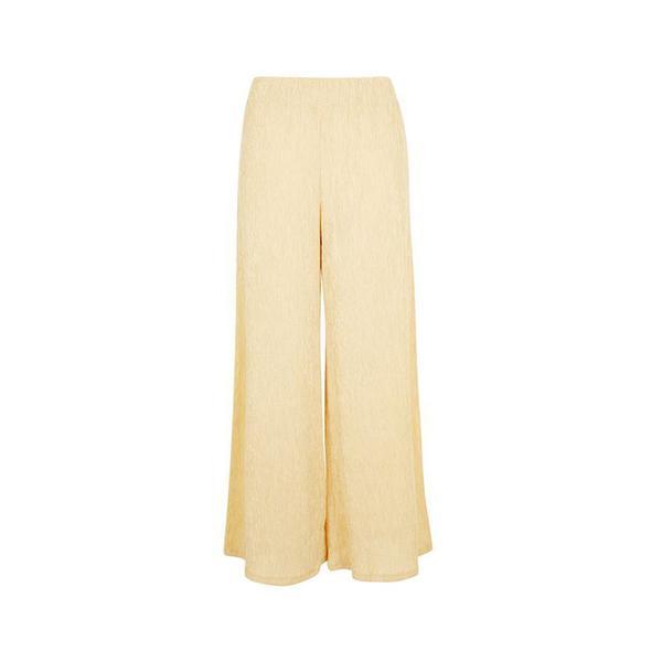 Topshop Tie Belt Crop Wide Leg Trousers