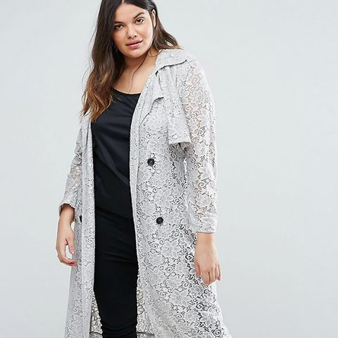 Plus Lace Trench