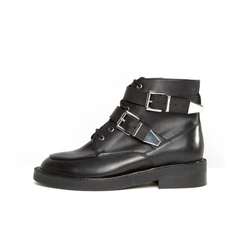 Abe Wide Fit Leather Ankle Boots