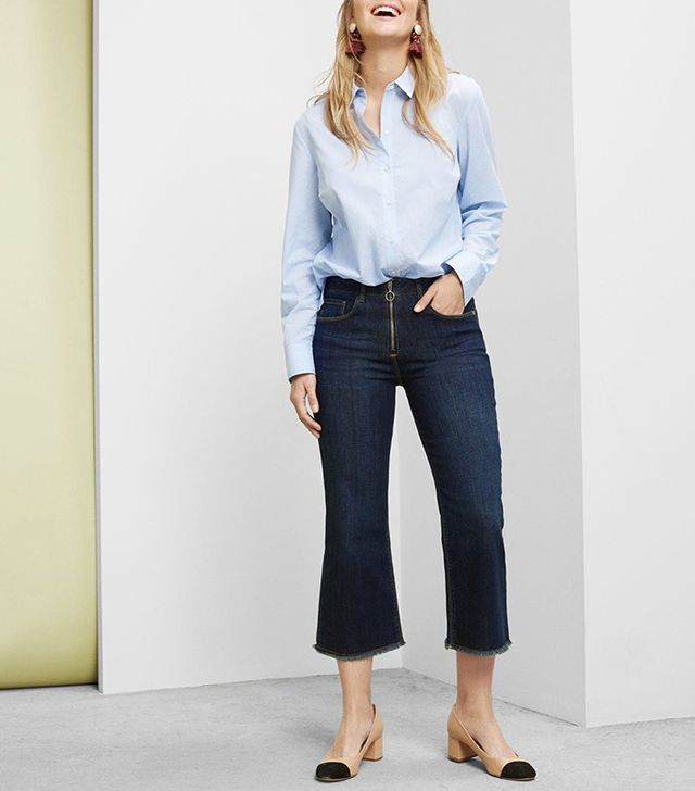 best plus size cropped flare jeans