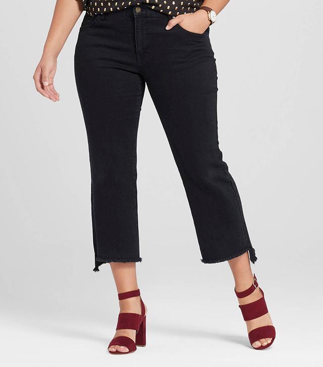 best plus-size black kick flare jeans