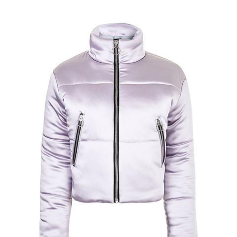 Crop Funnel Puffer Jacket