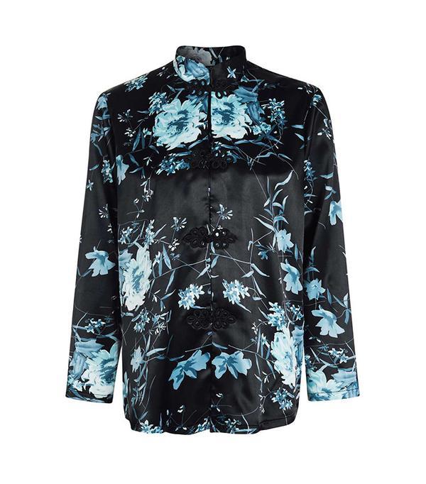 kimono style silk shirt