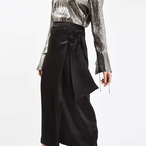 Buckle Drape Skirt