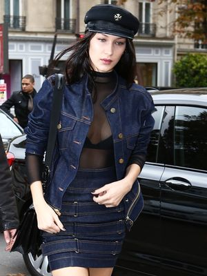 Bella Hadid Wears This Tricky Trend (Almost) Every Day