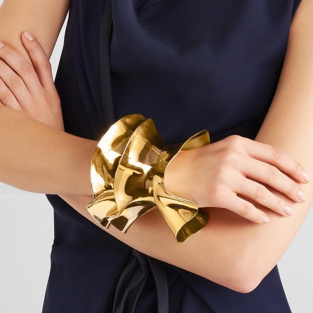 Dinosaur Designs Orchid Gold-Tone Bangle