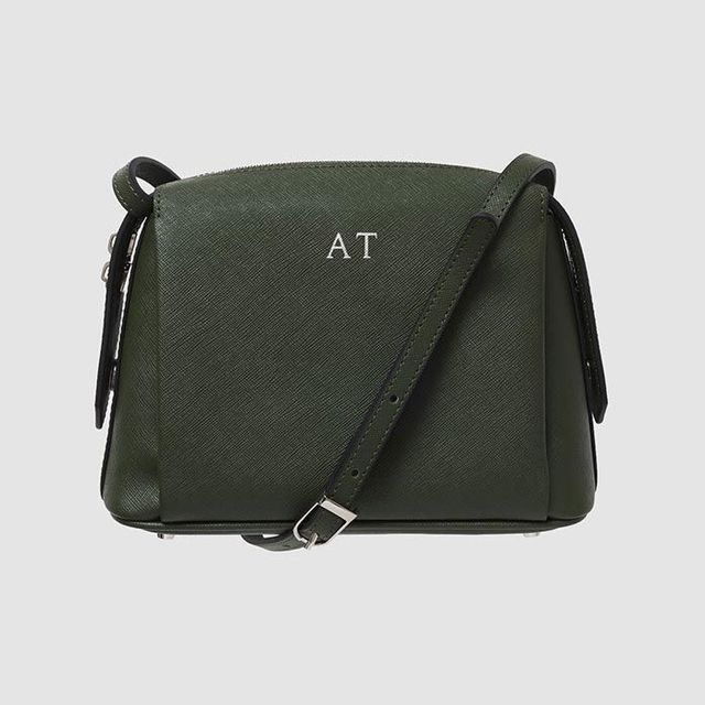 The Daily Edited Khaki Structured Cross Body Bag