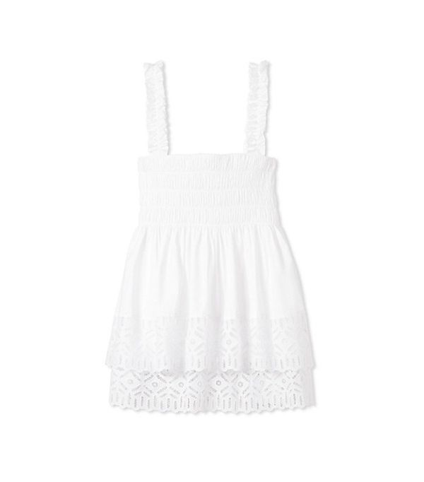 Smocked top and dresses 2000s trend: Tory Burch Georgette Top