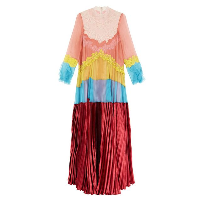Style dot com trends: Valentino Multicoloured Silk Gown