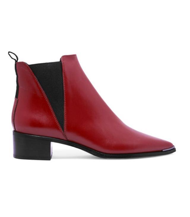 Ankle boot trends 2017: Saint Laurent Babies Block-Heel Velvet Ankle Boots