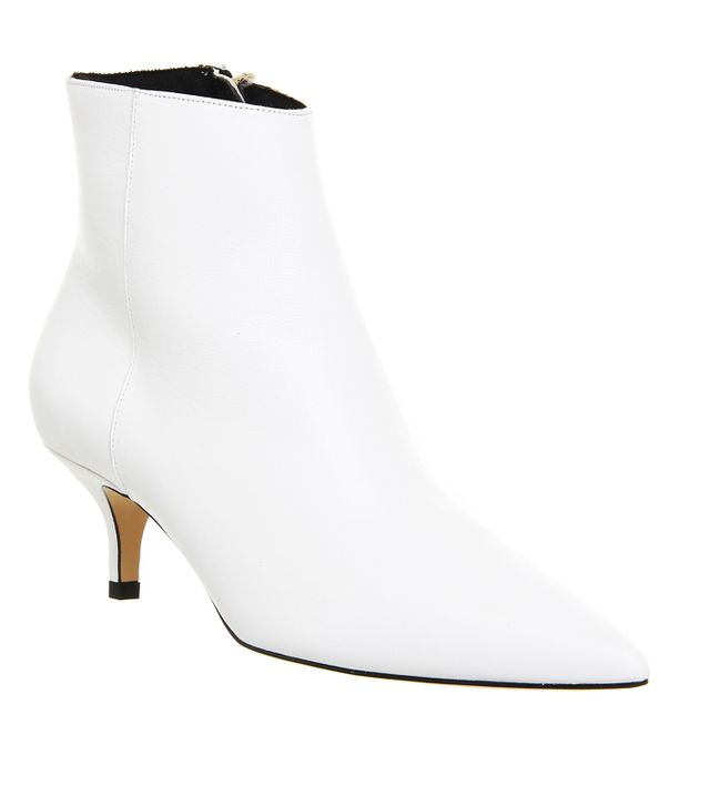 Ankle boot trends 2017: Acne white boots