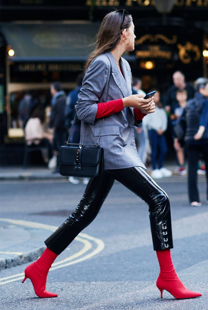 Boot trends 2017: red sock boots