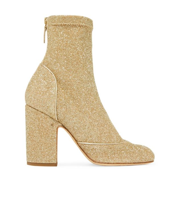 Laurence Dacada Melody Metallic Stretch-Knit Boots